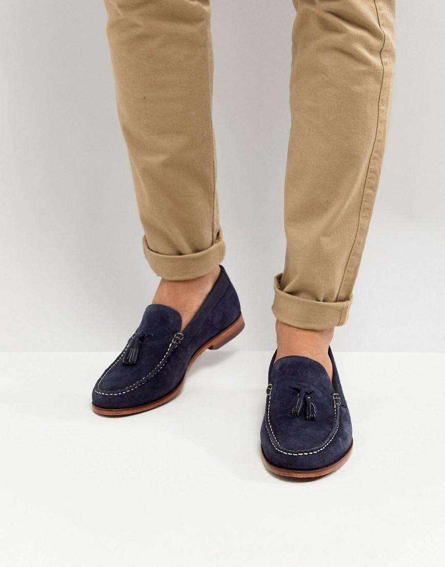 a9453d92220 Lyst - Ted Baker Dougge Suede Loafers In Navy in Blue for Men
