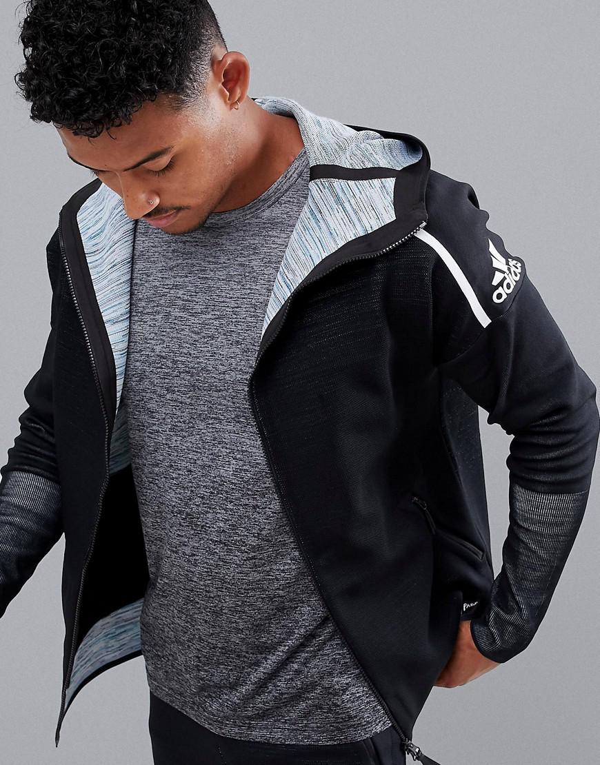 Lyst - adidas Athletics Parley Zne Hoodie In Black Dh1405 in Black ... 8517e1c1ed