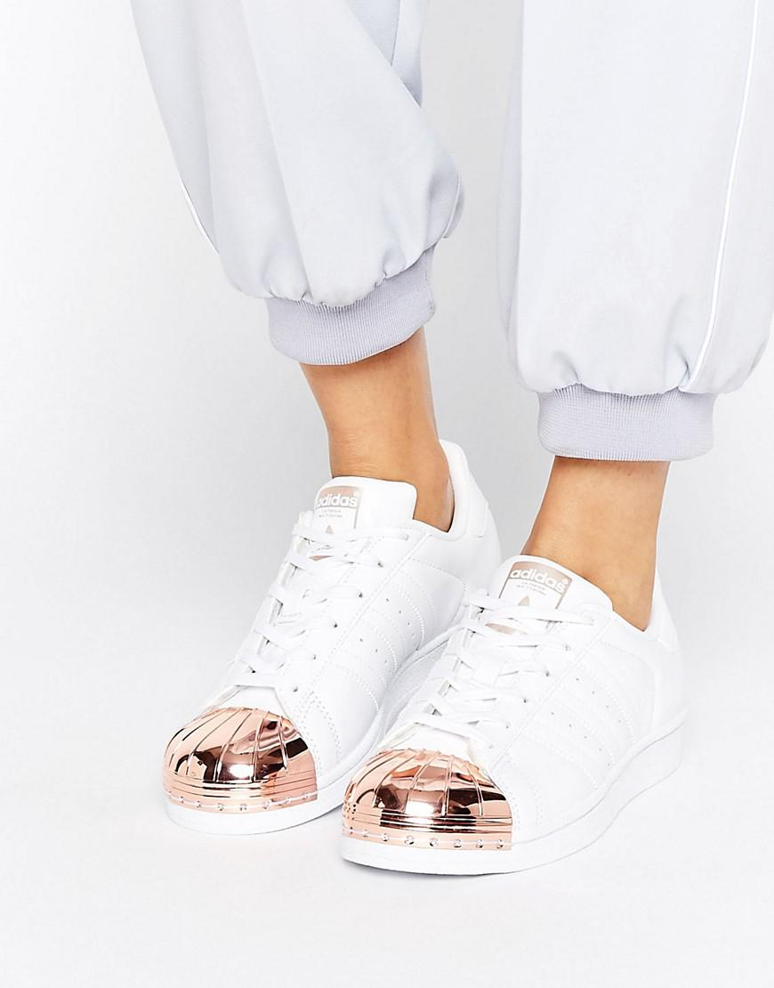 adidas superstars rose gold toe