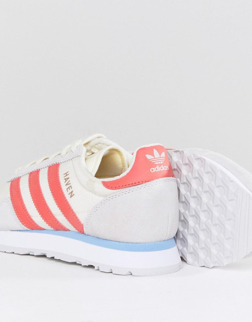 Haven Trainers In Off White And Red - White adidas Originals 9UJRJ