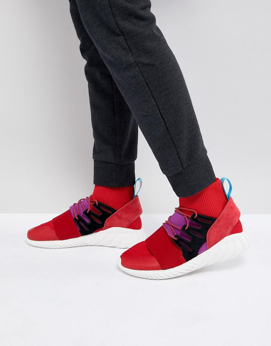 0e39c93d40b3 adidas Originals Tubular Doom Winter Trainers In Red By9397 in Red ...