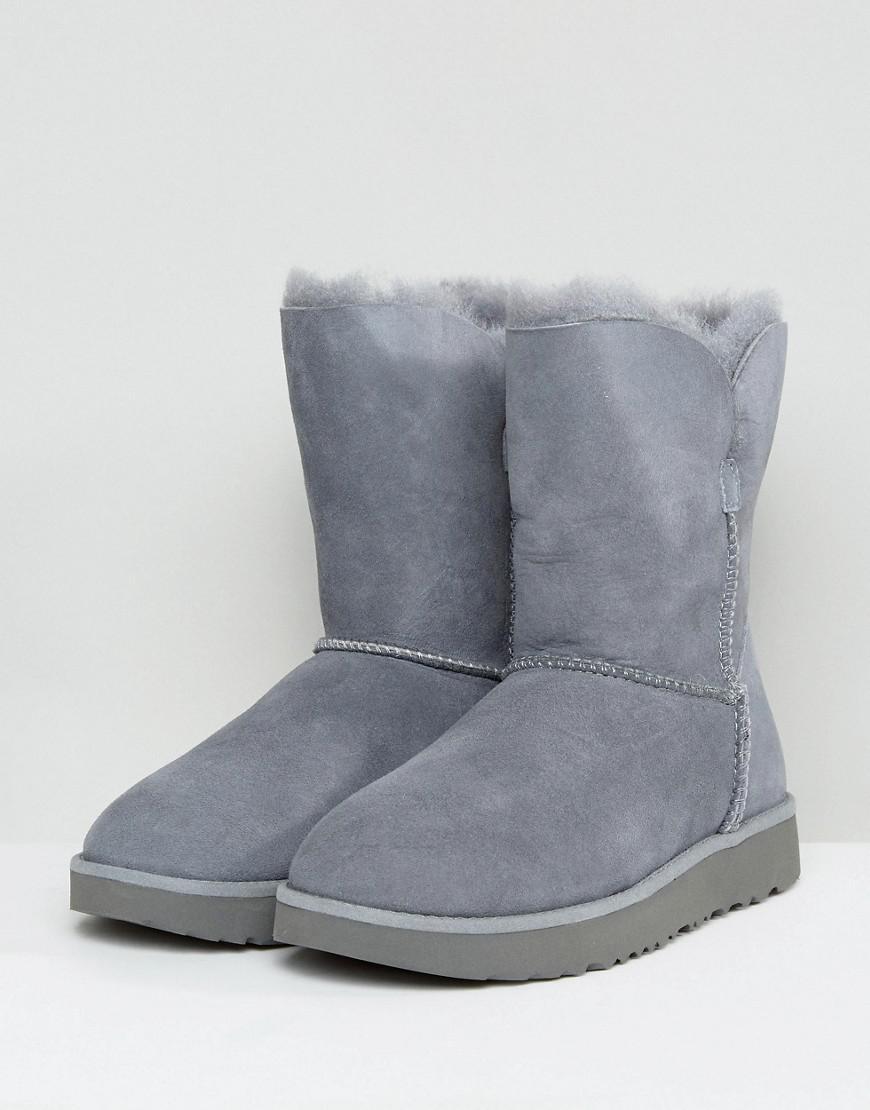 UGG Suede Classic Cuff Short Grey Boots in Grey