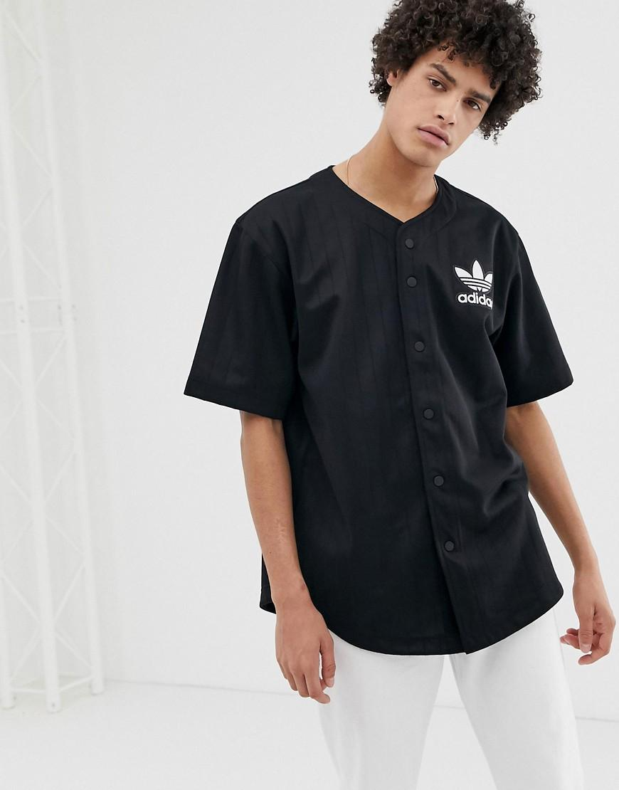 adidas Originals Cotton Baseball Jersey With Back Embroidered Logo ...
