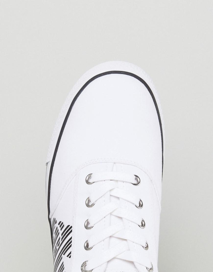 EA7 Canvas Cult Vintage Trainers in White for Men