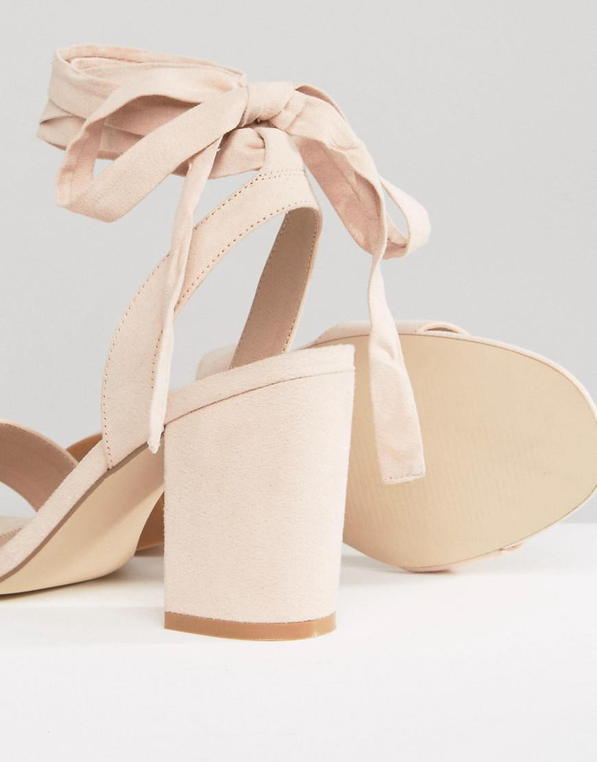 679bbcca015e Lyst - ASOS Holding On Wide Fit Tie Leg Sandals in Natural