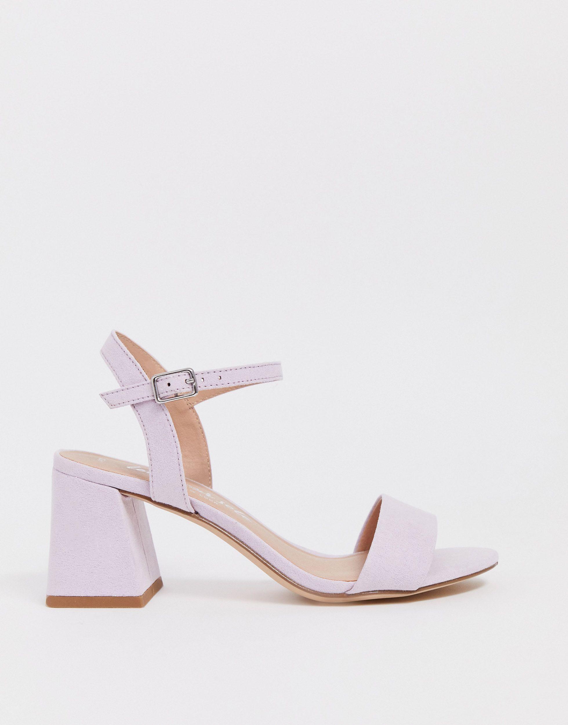 Sandales à petit talon carré - Lilas New Look en coloris Violet