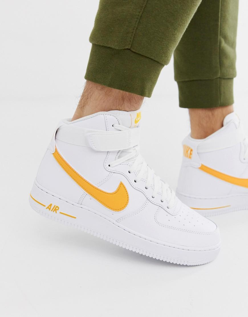separation shoes 72b77 e44be Nike. Men s Metallic Air Force 1 High Trainers In Gold. £100 From ASOS