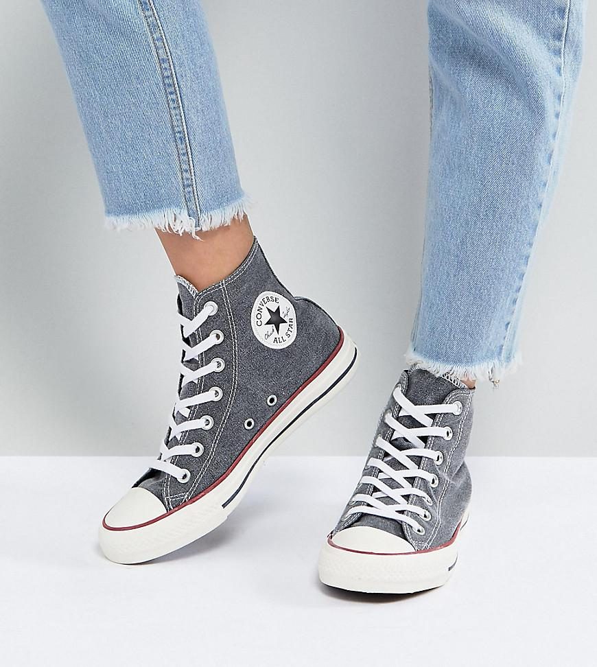 Converse Chuck Taylor All Star Hi Trainers In Stonewashed Black outlet footlocker finishline sale comfortable cheap sale outlet dI2LO0z