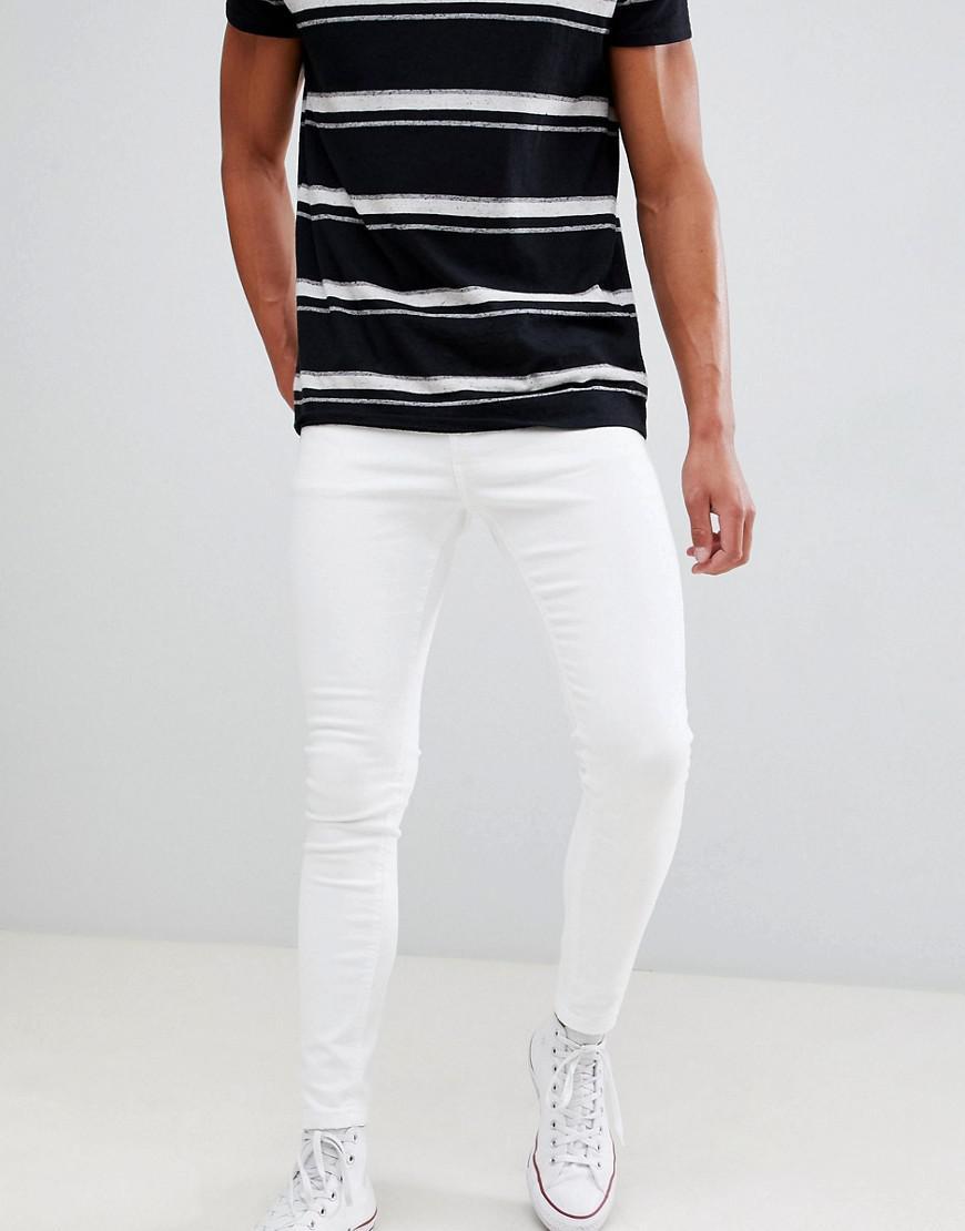 98fefc716 Jean super skinny Bershka pour homme en coloris White