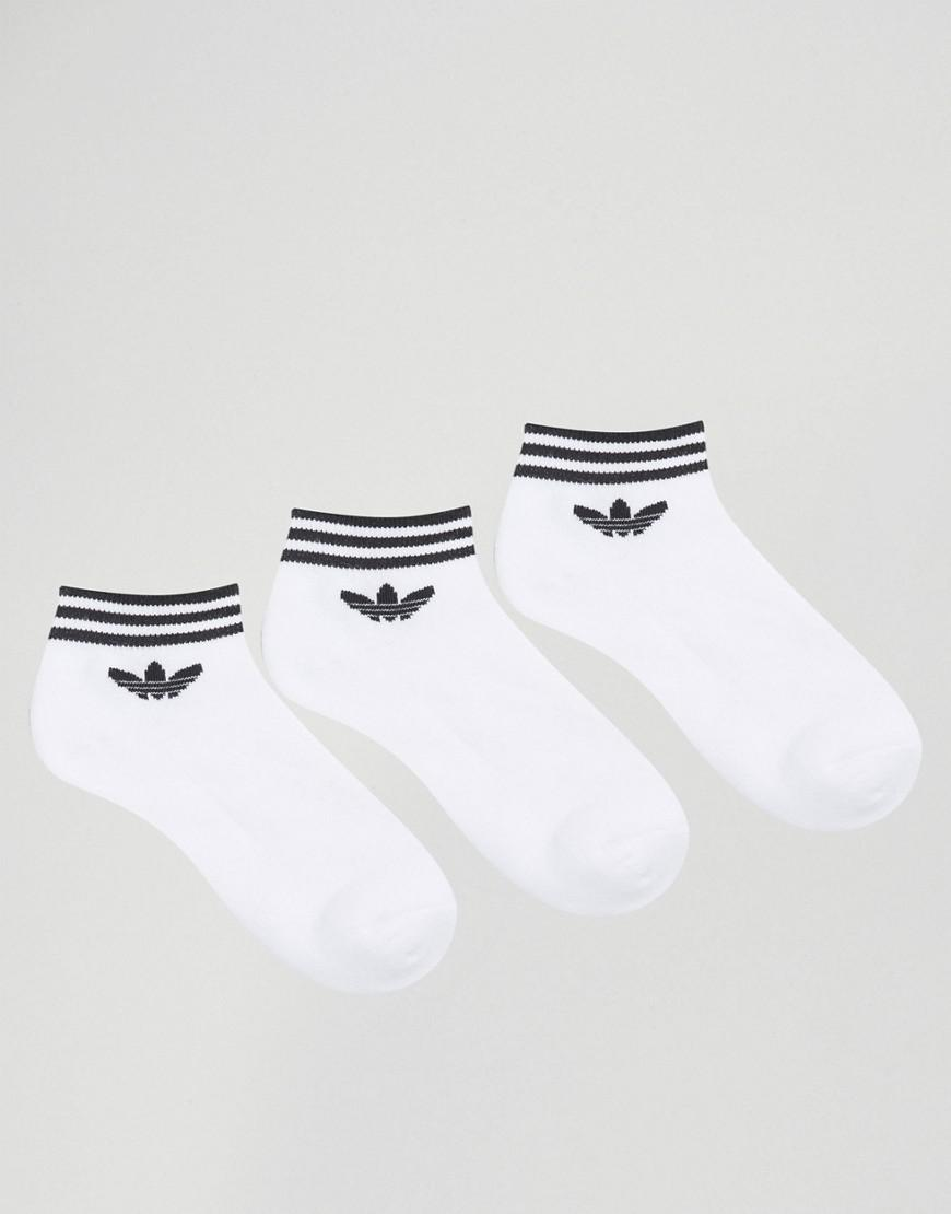 Free Shipping Newest Where To Buy Low Price 3 Pack White Ankle Socks With Trefoil Logo - White adidas Originals Clearance Pick A Best Recommend Sale Huge Surprise OvXbMnsn8x
