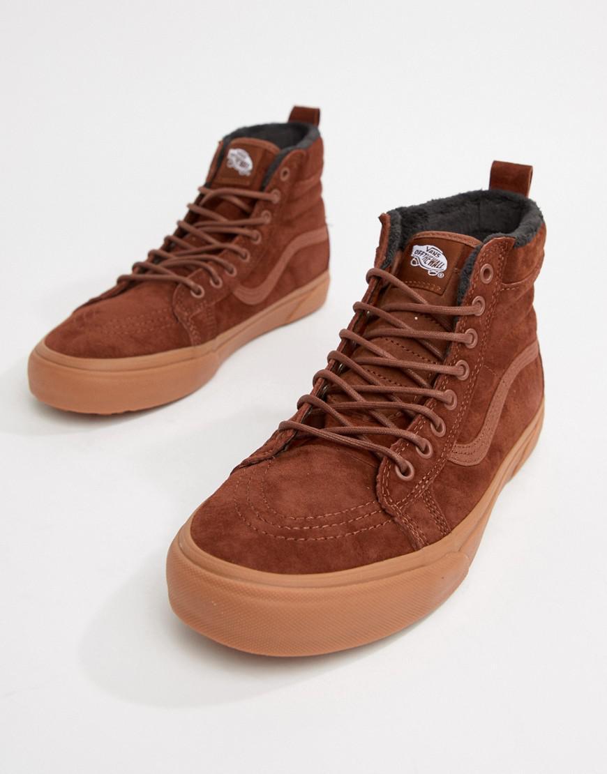 Zapatillas de deporte de ante en marrón VN0A33TXUC81 SK8-Hi Vans de Ante de color Marrón para hombre