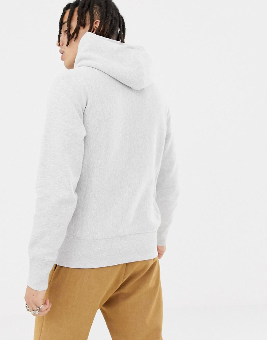 32c80943d96 Men s Gray Reverse Weave Hoodie With Large Logo