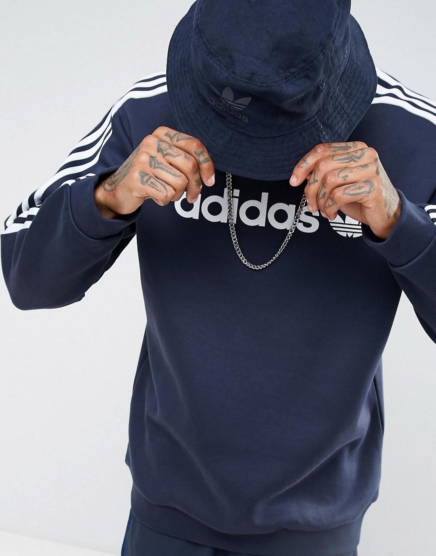 adidas originals adicolor linear crew neck sweat