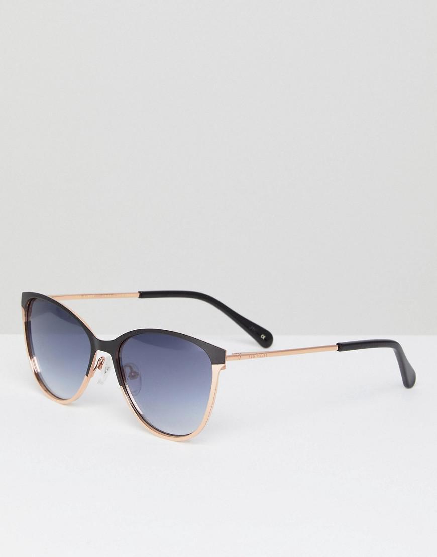 9b51a7292 Lyst - Ted Baker Tb1500 004 Mila Cat Eye Sunglasses In Black in Black