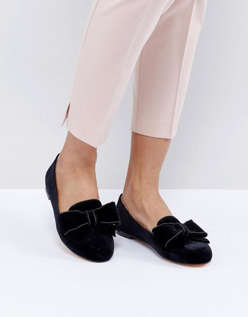 Office Women S Black Fortress Bow Flat Shoes