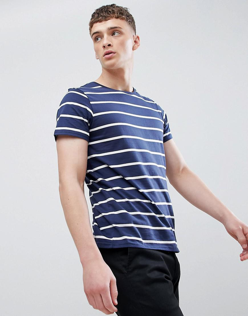 363059ff4d Lyst - Lee Jeans Jeans Striped T-shirt in Blue for Men
