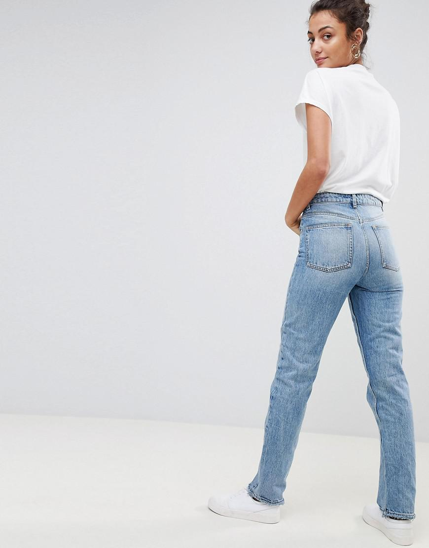 375b943125d00c ... Asos Design Tall Recycled Florence Authentic Straight Leg Jeans In  Light Stone Wash. View fullscreen