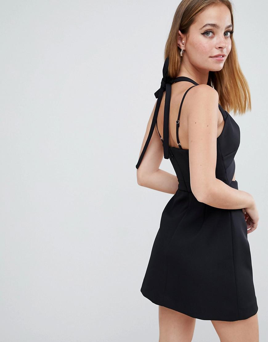 d1d41d94361bb Lyst - ASOS Asos Design Petite Cutout Strappy Mini Dress in Black