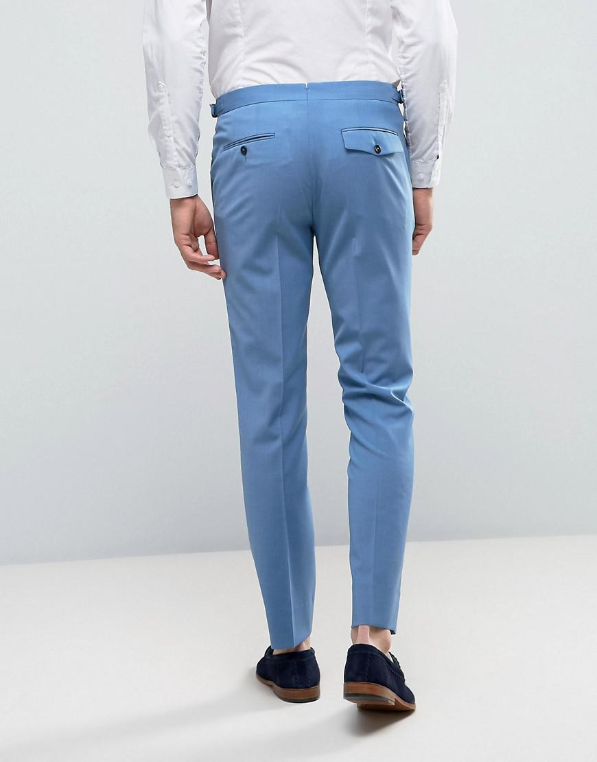 Lyst - Hart Hollywood Skinny Wedding Suit Pants in Blue for Men
