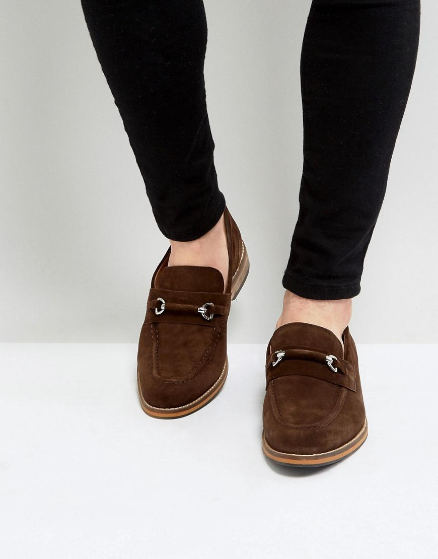 ASOS DESIGN driving shoes in brown suede with snaffle clearance outlet 2015 online UjjTaa