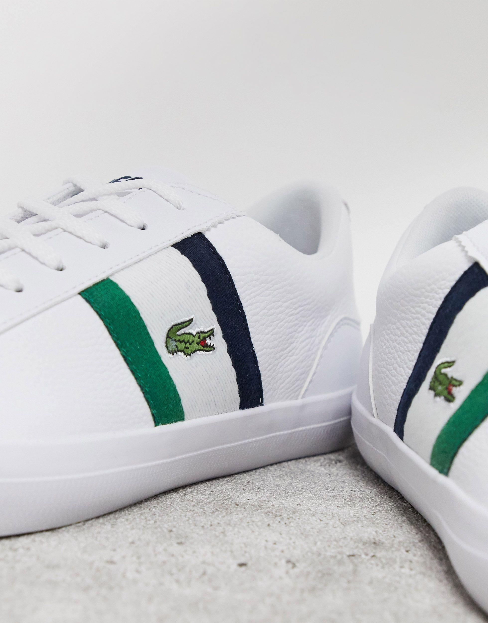 Lerond 119 Trainers White Navy Stripe