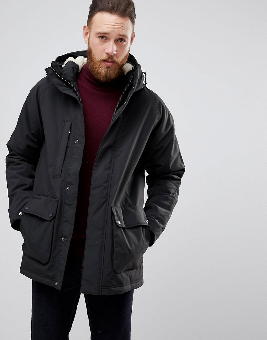 4849ec7a Didriksons 1913 Elis Parka In Black With Fleece Lining in Black for ...