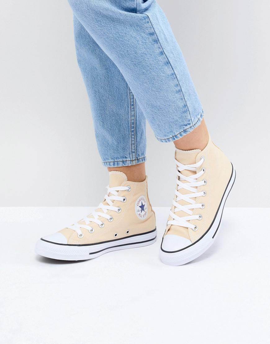48c81b21db6 Converse Chuck Taylor All Star Hi Trainers In Yellow in Yellow - Lyst