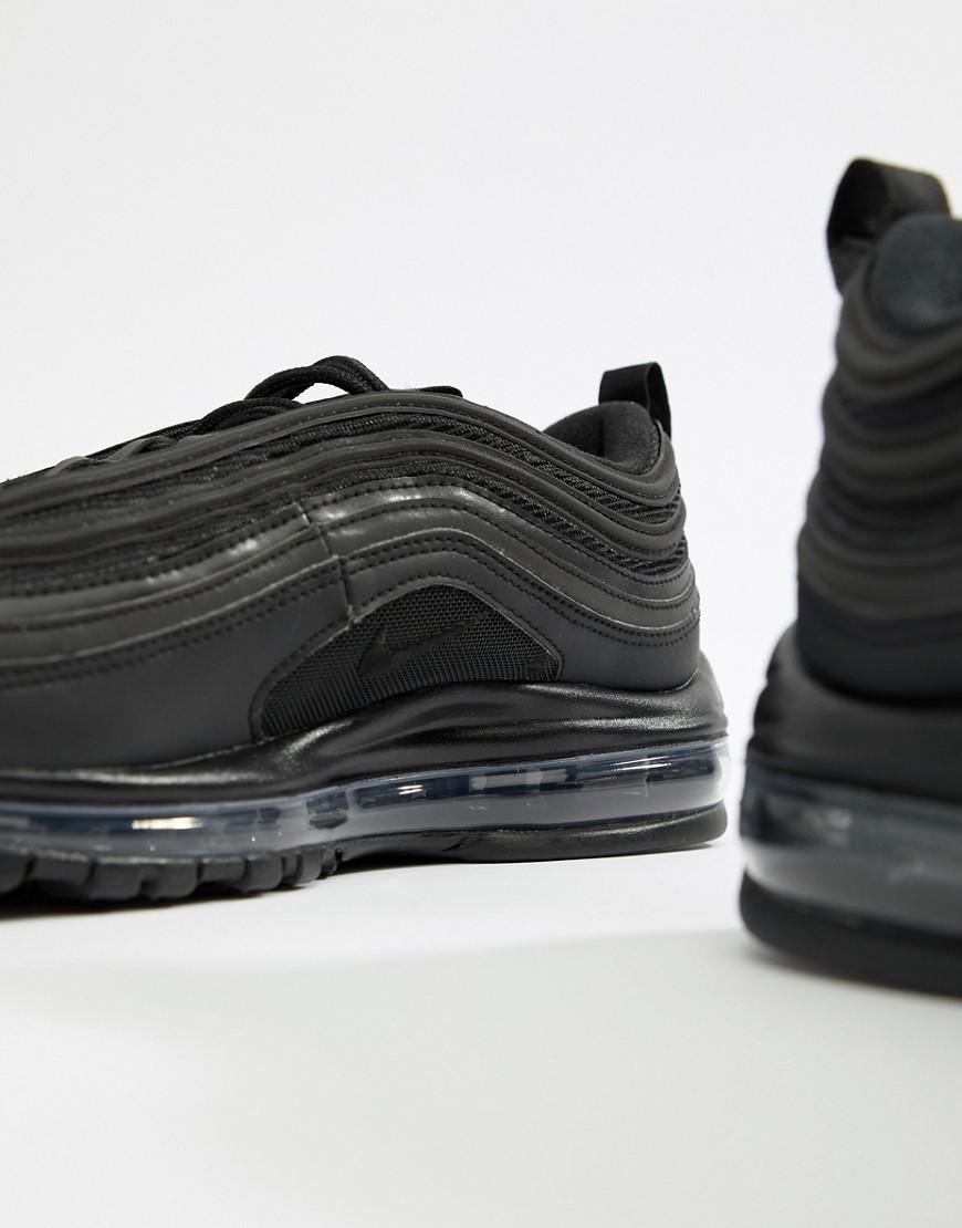 on sale f876c 259ea Nike Air Max 97 Sneakers In Black in Black for Men - Lyst