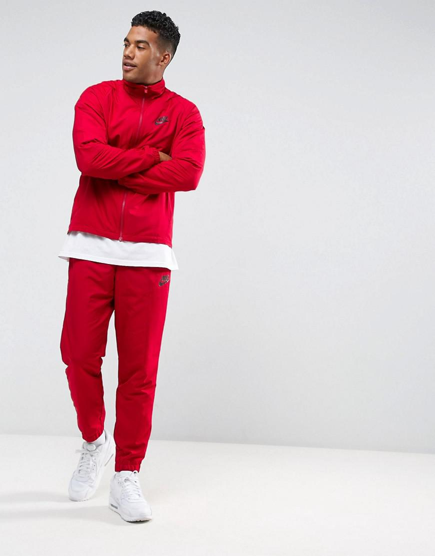 Nike Synthetic Tracksuit Set In Red 861778 608 for Men Lyst