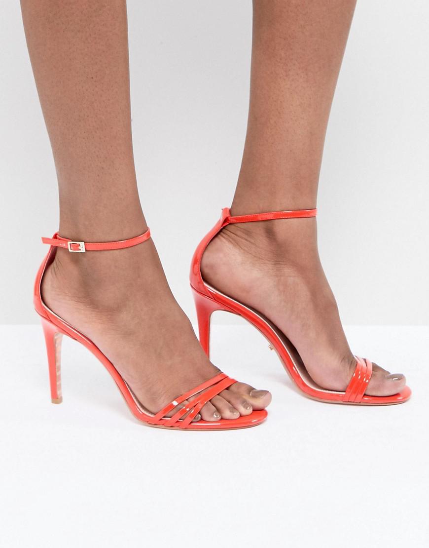Bright Orange Two Part Strappy Heeled Sandal - Orange patent Dune London YitdzKFrD