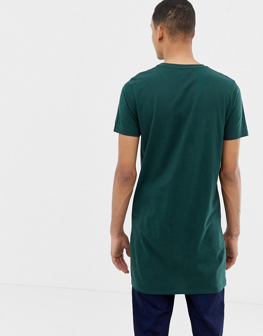ASOS Katoen Tall - Extra Lang T-shirt Met Ronde Hals in het Groen voor heren