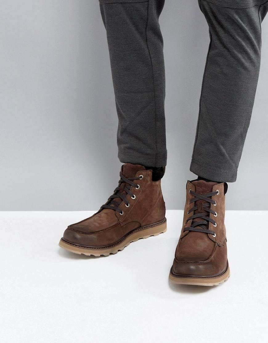 SOREL Mens Madson Moc Toe Waterproof Leather Boots