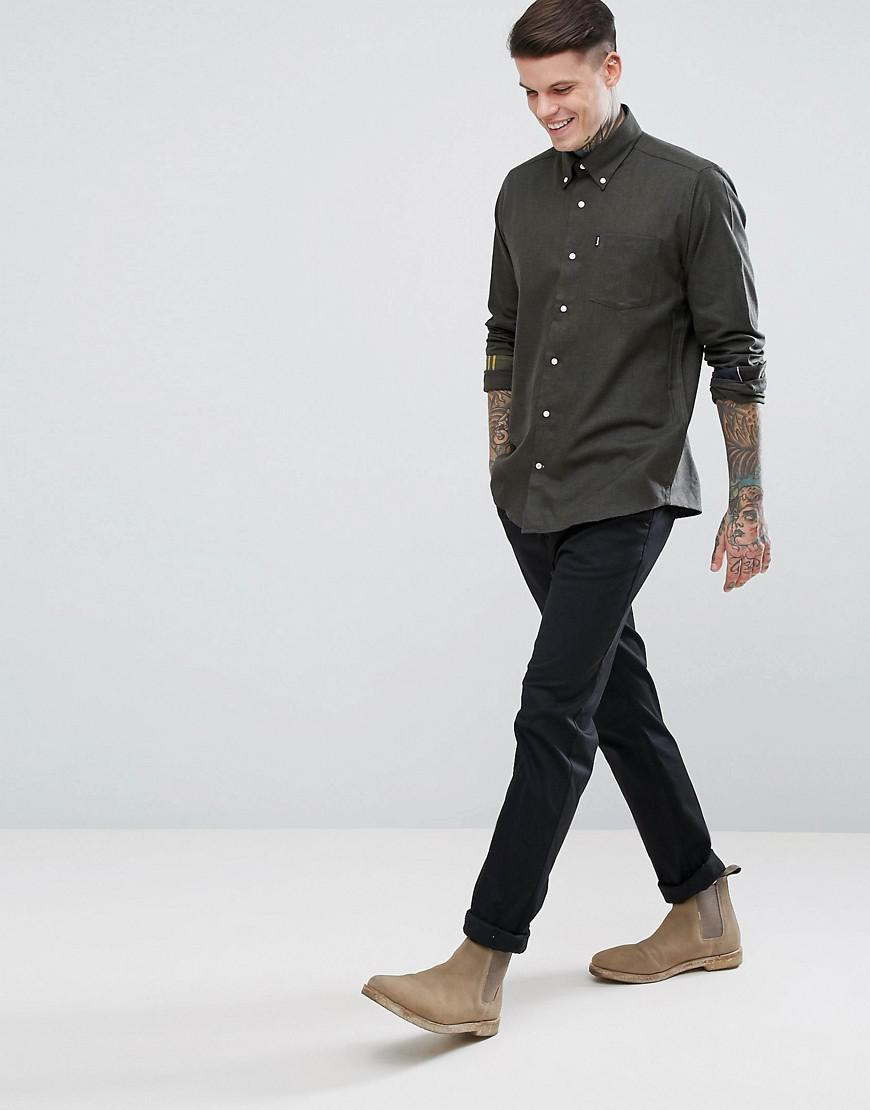b82d02a918f Barbour Green Don Slim Fit Twill Button Down Shirt Exclusive In Olive for  men