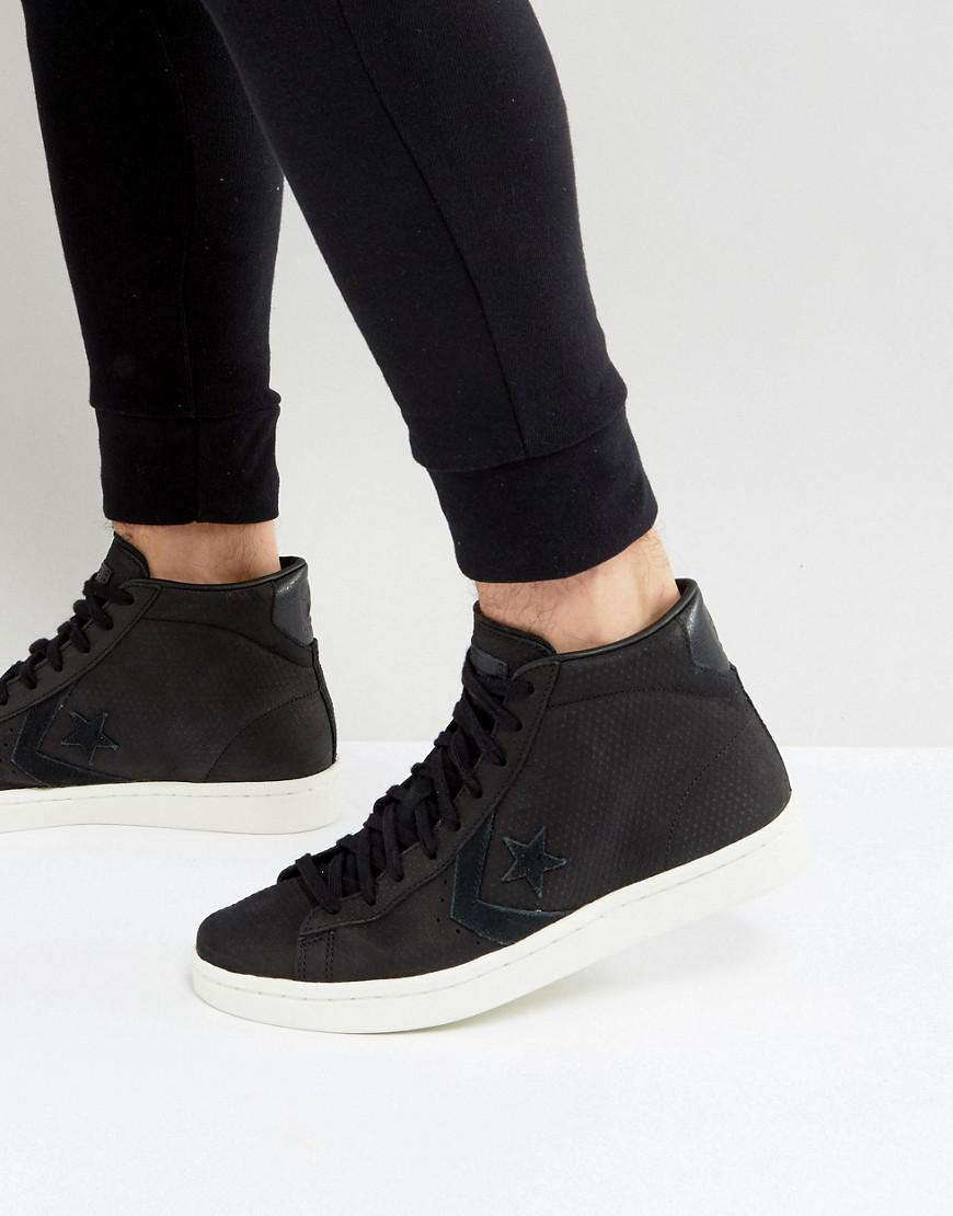 Converse Leather Pl 76 Hi Trainers In Black 155647c for Men - Lyst