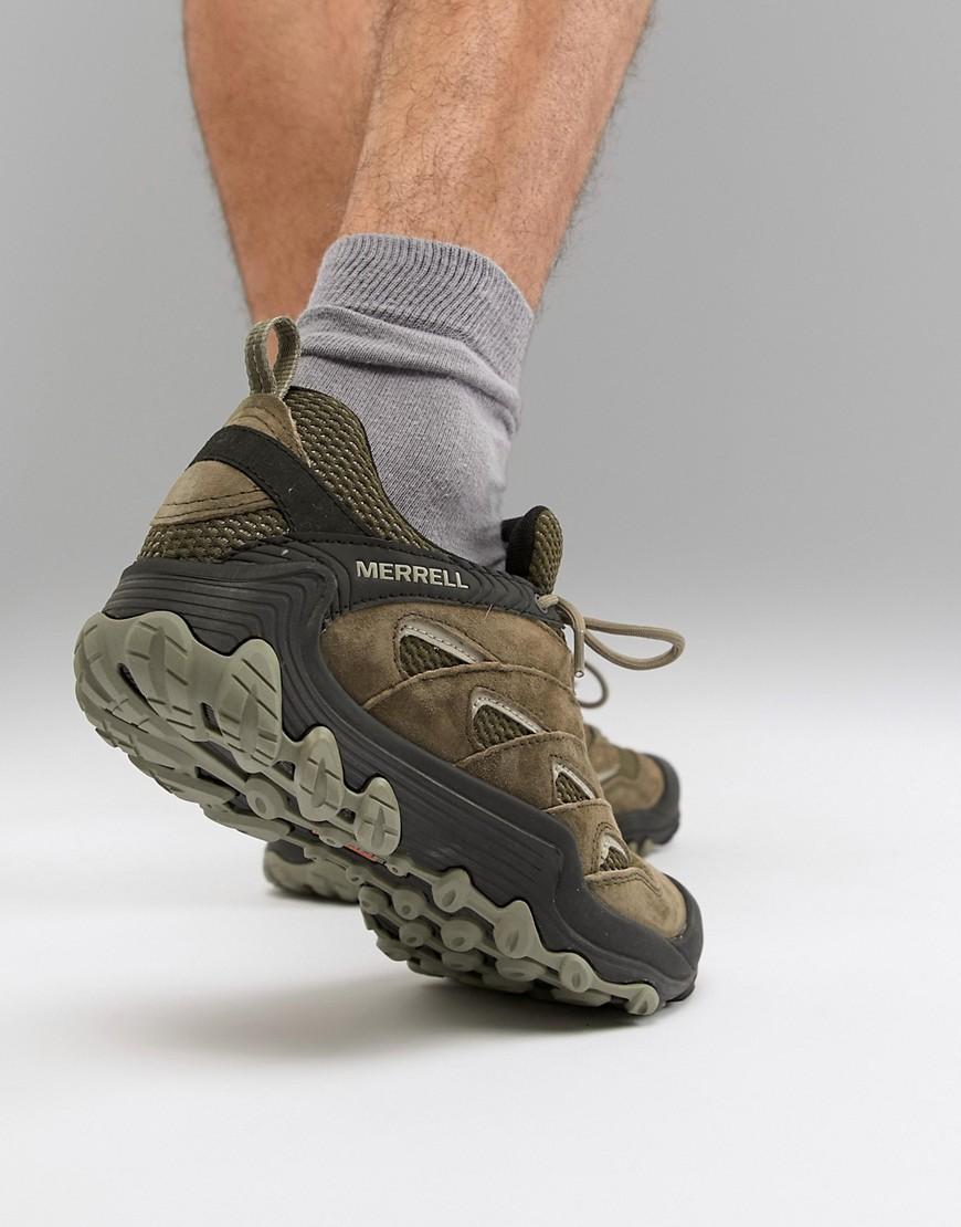 Zapatillas de deporte para festival de senderismo en oliva Chameleon 7 Limit Merrell de Caucho de color Verde para hombre