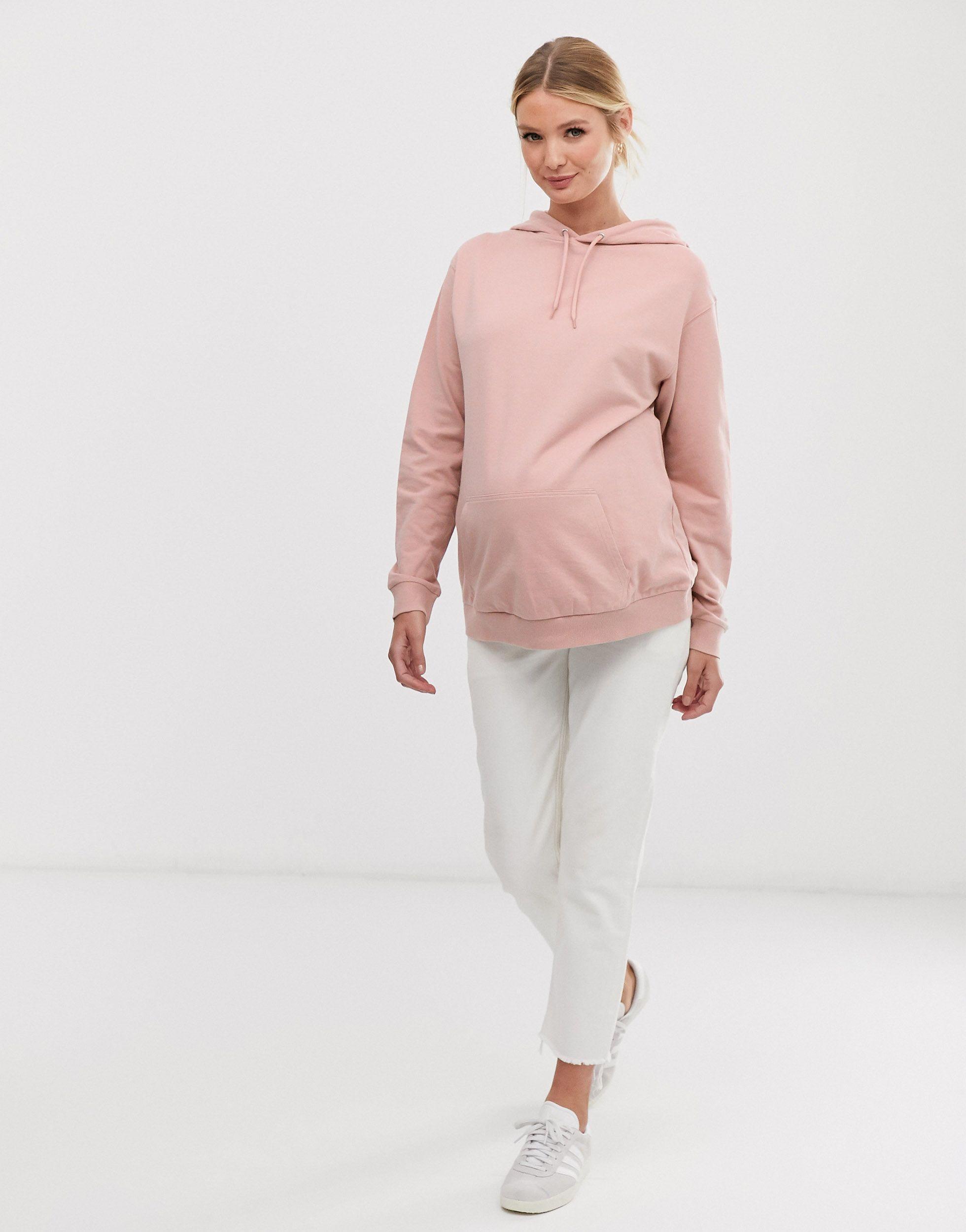 ASOS DESIGN Maternity - Ultimate - Hoodie Coton ASOS en coloris Rose