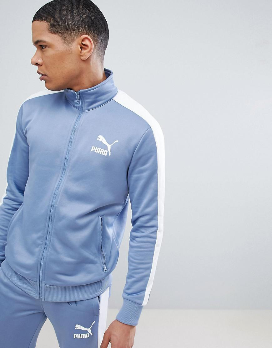 79a1aa6db PUMA Archive T7 Track Jacket In Blue 57265875 in Blue for Men - Lyst
