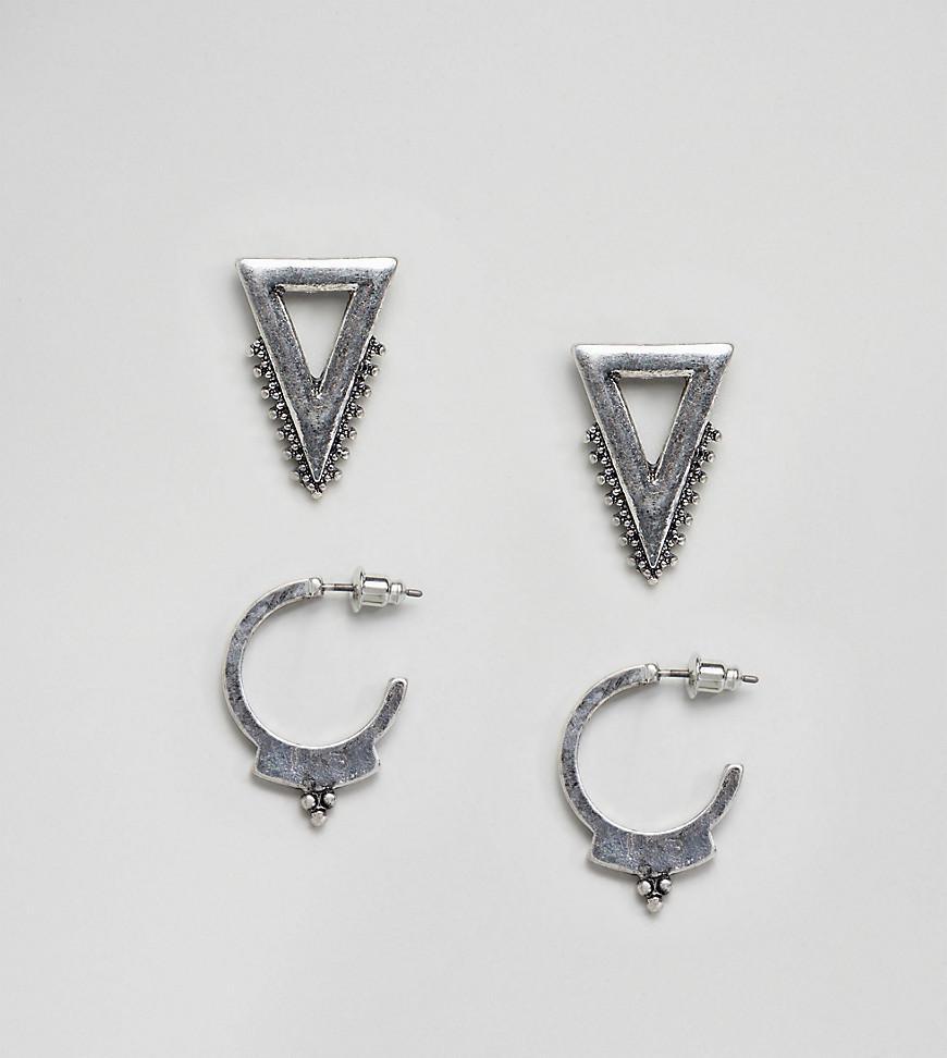 DESIGN Pack Of 2 Pearl Hoop Earrings - Gold Asos kZvBvoh