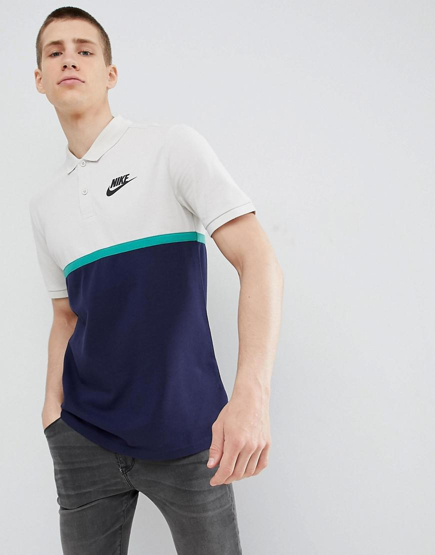 0741e37a5c42 Nike Matchup Colour Block Polo In Navy 886507-072 in Blue for Men - Lyst