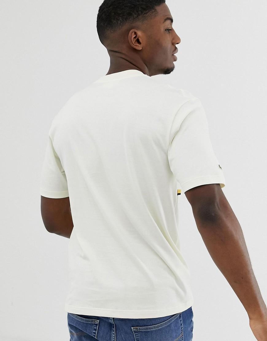 b8bcc0318d Lacoste Stripe Logo T-shirt In Off White in White for Men - Lyst