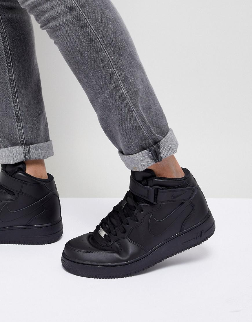fashion styles running shoes exclusive shoes Air Force 1 Mid '07 Trainers In Black