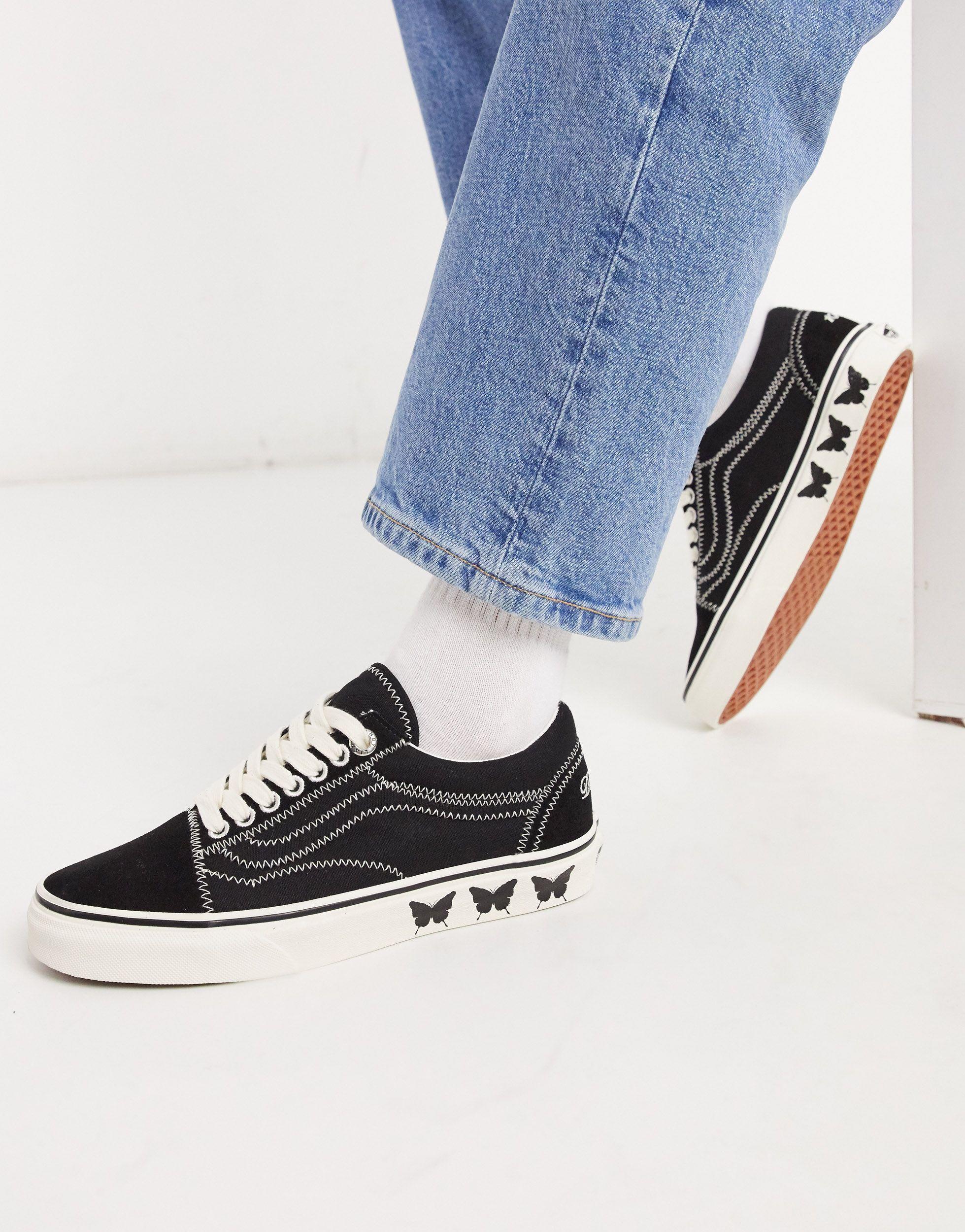 Chaussures X Sandy Liang Old Skool Vans en coloris Noir - Lyst