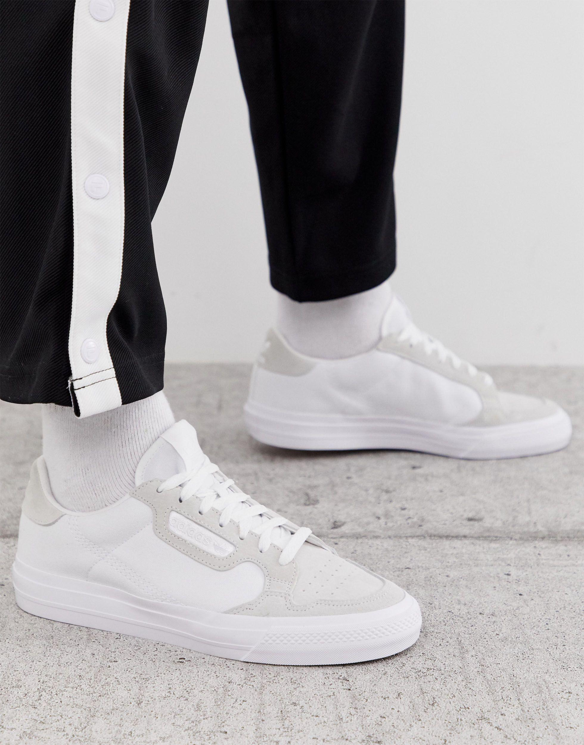 adidas Originals Leather Continental 80 Vulc Trainers in White for ...