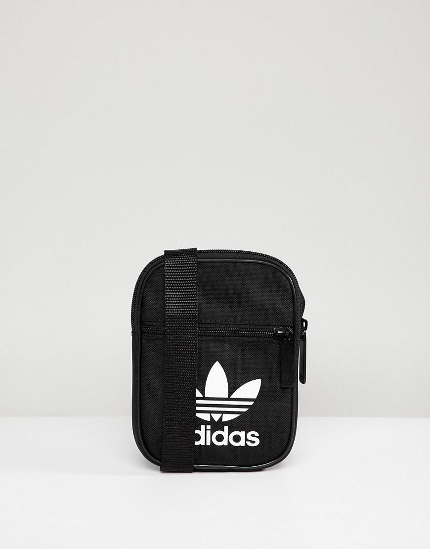Adidas Originals Originals Festival Mini Multi Way Bag With Trefoil Logo In Black