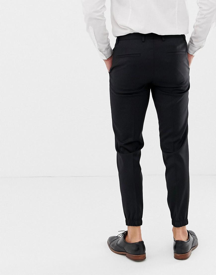 Lyst Hugo Taylor Slim Fit Cuff Hem Dress Pants In Black In Black