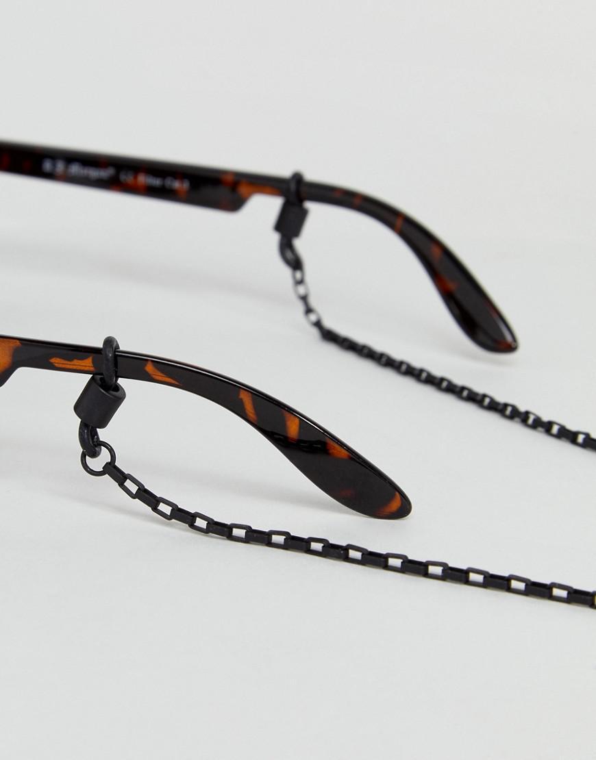 Icon Brand Matte Black Sunglasses Chain for Men