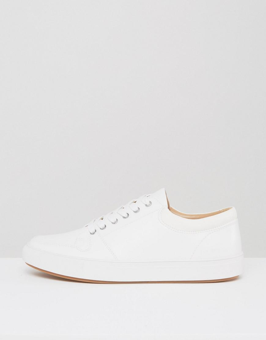 Ben Sherman Common Trainers In White Leather for Men