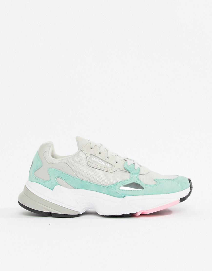 Adidas Originals Falcon Trainer In Grey And Mint In Gray Lyst