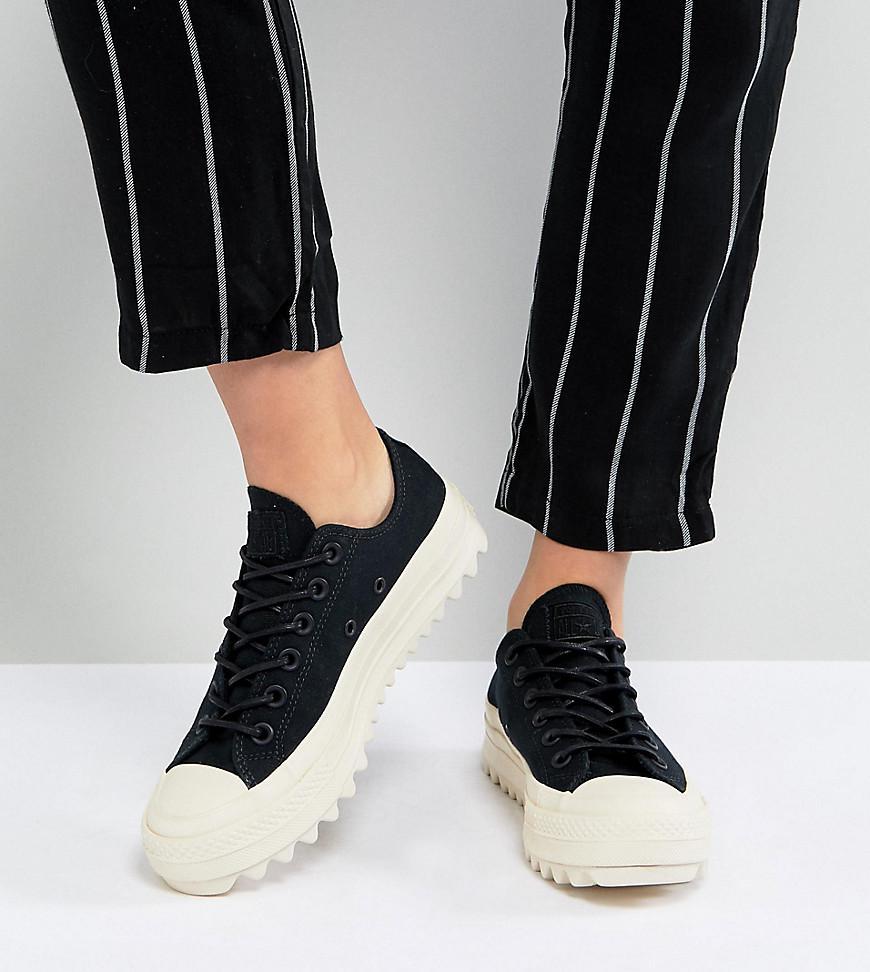 Star Lift Ripple Ox Sneakers In Black