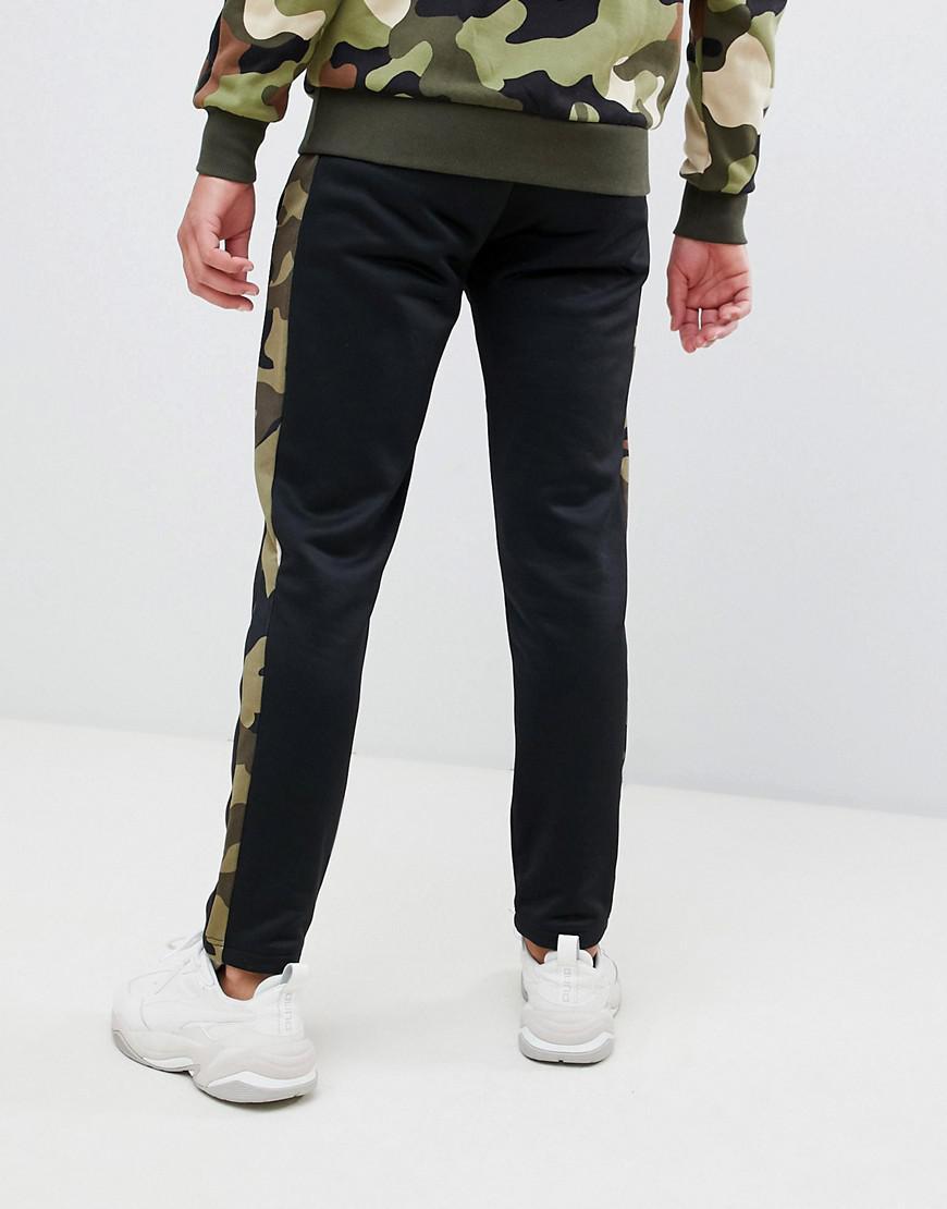 1e3d19814694 PUMA joggers With Camo Side Stripe In Black in Black for Men - Lyst